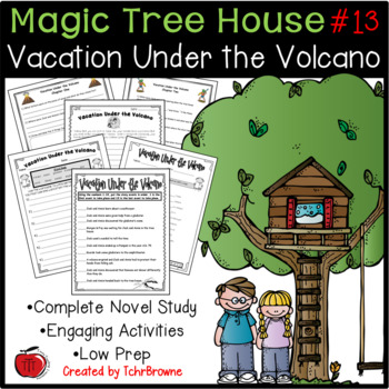 #13 Magic Tree House- Vacation Under the Volcano Novel Study