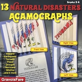 NATURAL DISASTERS - 13 Agamographs (Volcanoes, Earthquakes, Floods, and more)
