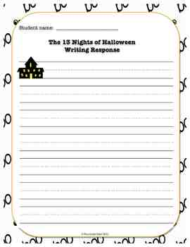 "13 Nights of Halloween ""BOO""ktivities - I have, Who has game, Writing, & More"