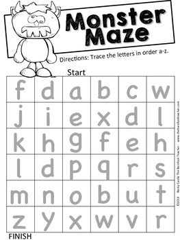 Halloween Alphabet Mazes - Upper and lowercase