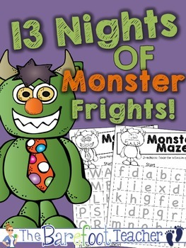 Halloween Alphabet Mazes - Upper and lowercase