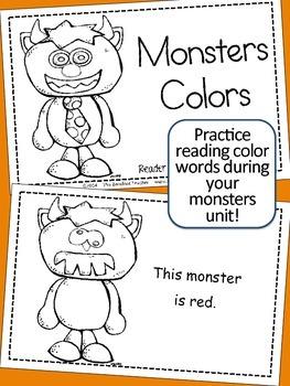Halloween 'Color My Monster' Emergent Reader {Color Words Practice}