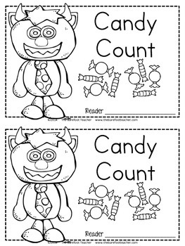 Halloween Math - 'Candy Count' Emergent Reader