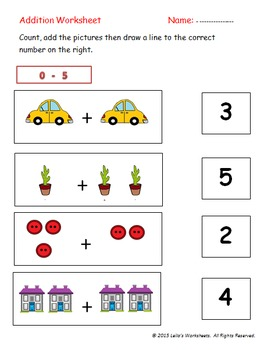 13 Pages of Amazing Addition Worksheets with Pictures!