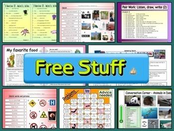 ESL Free Sample - 10 Different EFL Worksheets