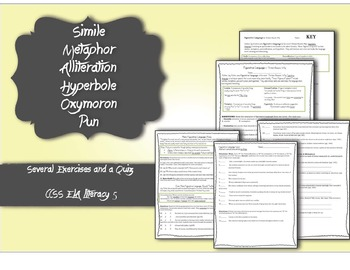 13 Reasons Why Figurative Language Worksheets and Quiz