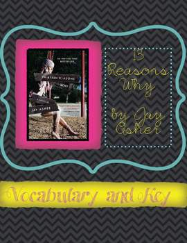 13 Reasons Why Vocabulary Chart  for the whole novel (75 words)