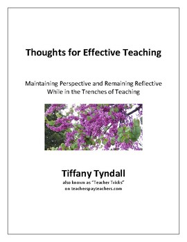 Thoughts for Effective Teaching