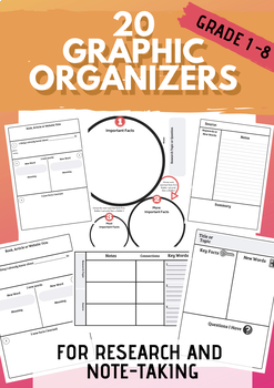 20 Research & Note-taking Graphic Organizers and Templates