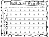 13 Roll and Read Letter Sounds Worksheets. Preschool-1st Grade Phonics.
