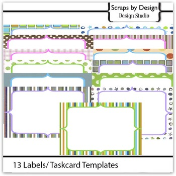 13 Savy  Label/Taskcard Template