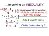 13) Solving Two and Multi Step Inequalities (Complete PPT Lesson)