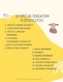 13 Special Education eligibilities
