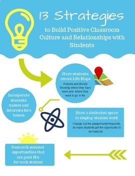 13 Strategies for Building Positive Classroom Culture and Student Relationships