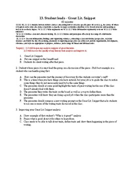 13. Student leads - Great Lit. Snippet