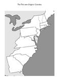 13 (Thirteen) Original Colonies Blank Map & Map With Quiz