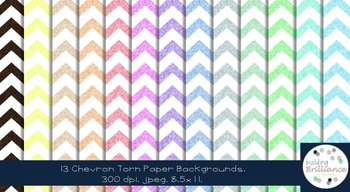 Torn Paper Chevron Backgrounds