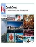 PBLA/LINC: 13 Webquests about Canada: The Provinces & Territories