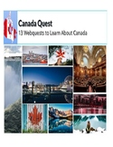13 Webquests about Canada: The Provinces & Territories
