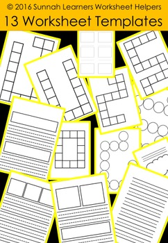 13 Worksheet & game Templates for Commercial Use and Personal/ Classroom Use!