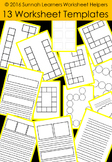 13 Worksheet & game Templates for Commercial Use and Perso