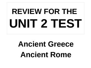 UNIT 2 LESSON 8. World History Unit 2 Test Review POWERPOINT
