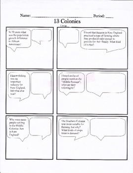 13 colonies cartoon strip