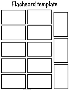 13 count flash card template