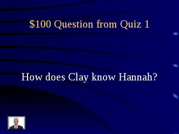 13 reasons why- Jeopardy review game