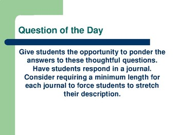 130 Daily Questions for Journals and Bell Ringers