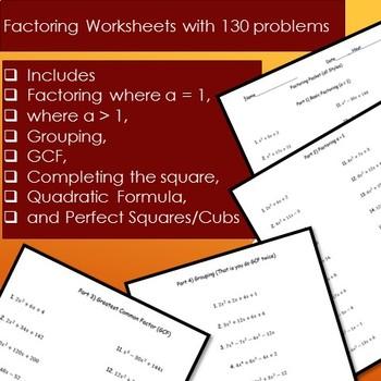 130 Factoring problems