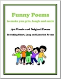 130 Funny Poems to Make You Grin, Laugh and Smile