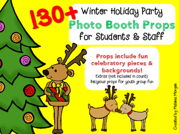 130+ Winter Holiday Photo Booth Props * Fun for Students,
