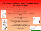 130 Rigorous Physics in Sports Document Based Questions – w/Answer Key