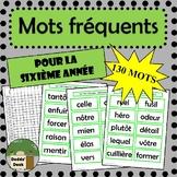 130 mots fréquents pour la sixième année (French sight words Grade 6)