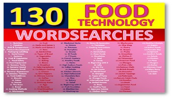 130 x Food Nutrition Health Wordsearches Keyword Starters Settlers Wordsearch
