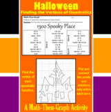 1300 Spooky Place - A Math-Then-Graph Activity - Finding Vertices