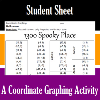 Halloween - 1300 Spooky Place - A Coordinate Graphing Activity