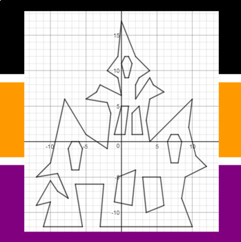 1300 Spooky Place - Finding Vertices - 5 Math-Then-Graph Activities