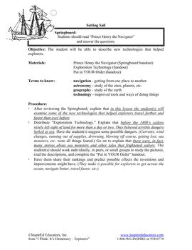 1302-4 Prince Henry the Navigator and Exploration Technology