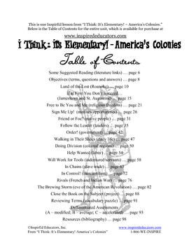 1303-5 Colonists and Native Americans (Grades 3-5)