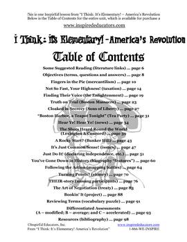 1304-10 Reasons to Revolt American Revolution (Grades 3-5)