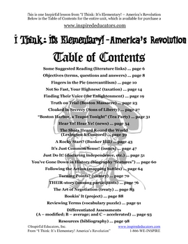1304-14 The American Revolution Multiple Perspective (Grades 3-5)