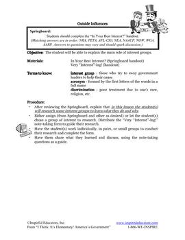 1305-15 Interest Groups (grades 3-5)