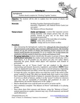 1305-9 Checks and Balances (grades 3-5)