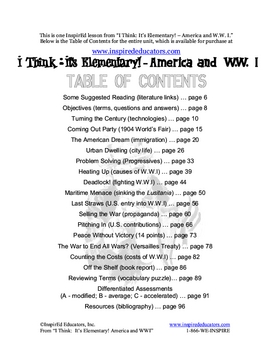 1309-3 Immigration to America (Elementary lesson)