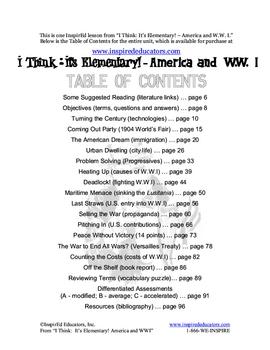 1309-5 The Progressive Era (Elementary Lesson)