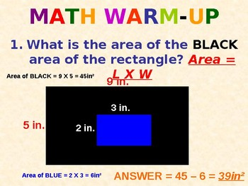 197 PowerPoint Slides 5th 6th Grade Review (Test Prep)