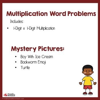 Coloring Multiplication Word Problems Single Digit ...