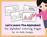 Alphabet Fun & Picture 134 Coloring Pages Bundle